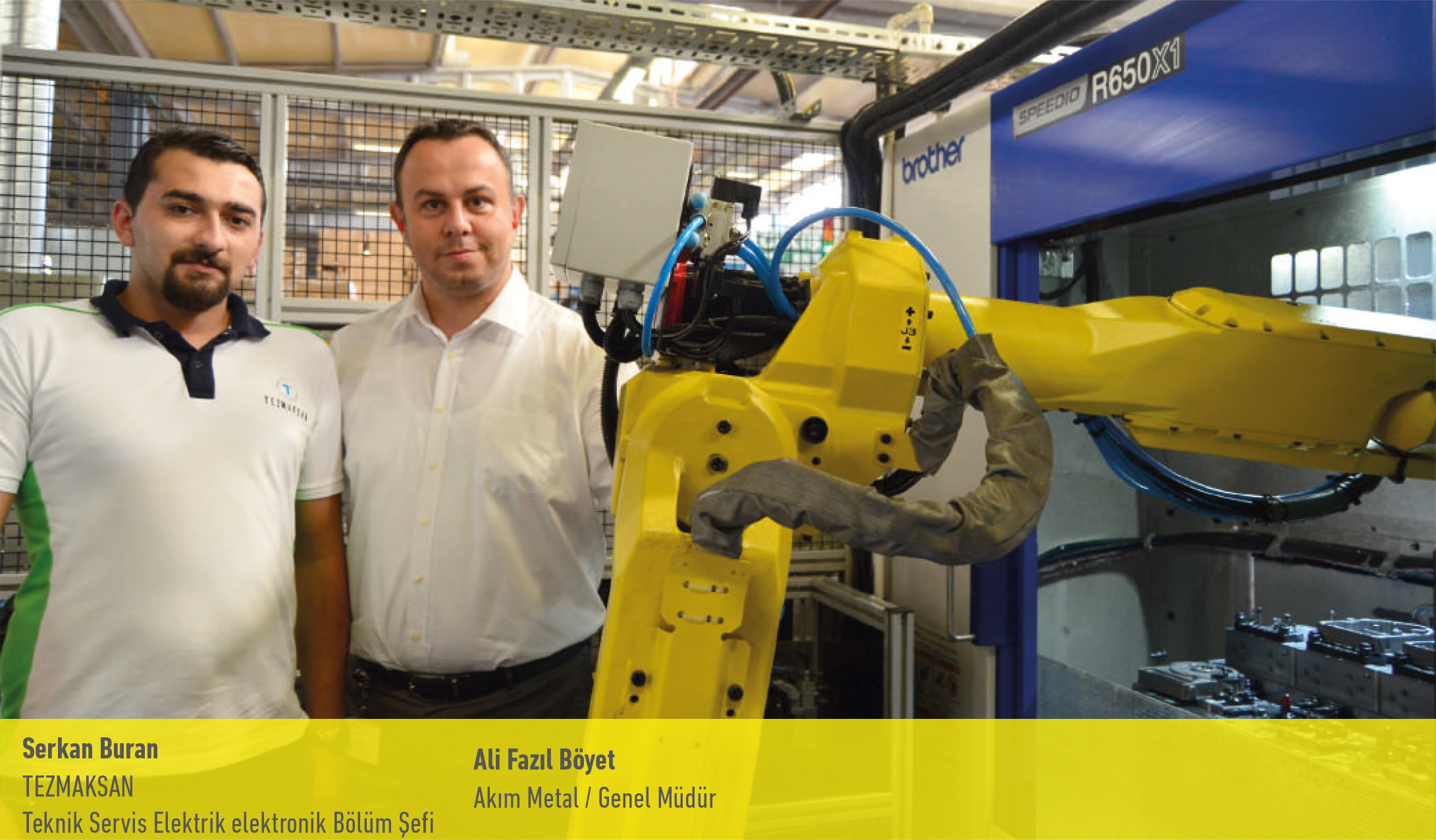 AKIM Metal, doubled its production capacity with robotic automation.