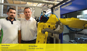 Ak?n Metal, doubled its production capacity with robotic automation.